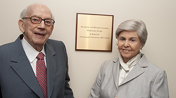 Philanthropist Dr. Raymond Sackler and wife Beverly