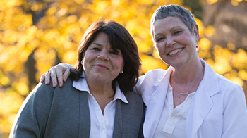 two women home hospice