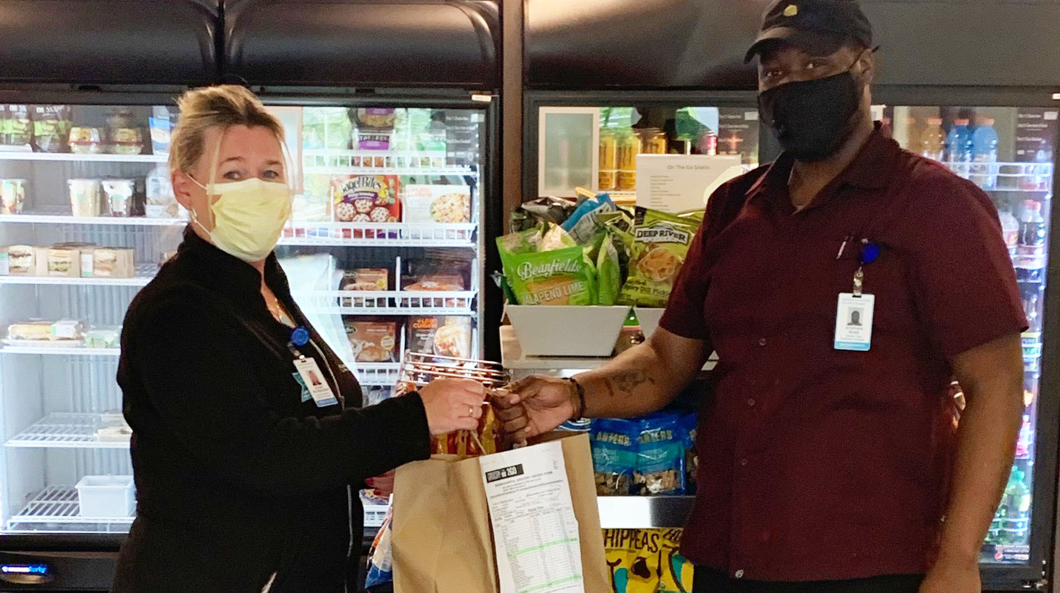 Greenwich Hospital employee obtains groceries during COVID-19